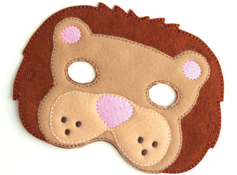 kids lion mask lion costume zoo felt mask kids face mask