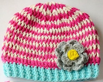 Crochet Hat Pattern, Colorful Crochet Hat, Crochet Pattern, Hat, Toddler, Kids, Adult, Handmade, Craft, patterns,  Crochet Hat Pattern