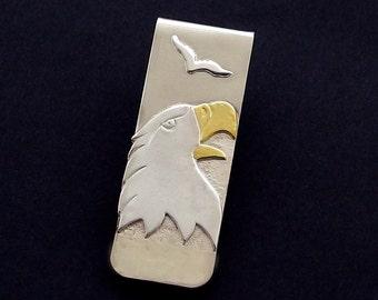Eagle Money Clip – Sterling Silver & 22kt Gold