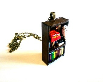 Harry Potter Bookshelf Necklace, Gryffindor - Book Jewelry by Coryographies (Made to Order)