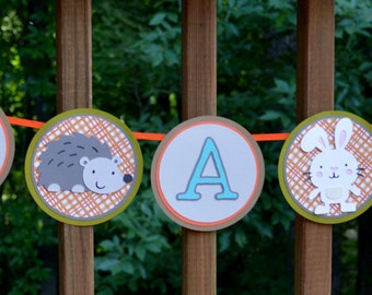 Enchanted Forest Baby Shower Banner Moss Orange Blue Brown It's A Boy Banner  Forest Animal Shower Decoration Baby Sprinkle