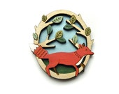 Running Fox Brooch