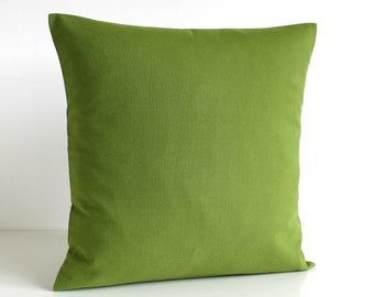 Pillow Cover, Pillow Sham, Pillow Case, Cushion Cover, 18 Inch Couch Pillow, 18x18 Plain Pillow, Throw Pillow, Pillowcase - Solid Fern Green