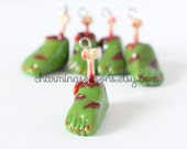 Zombie Foot Clay Charm, Halloween Holiday Walking Living Dead Horror Jewelry
