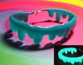 Glow in the Dark Blue Slime Bracelet - Dripping Candy Goo