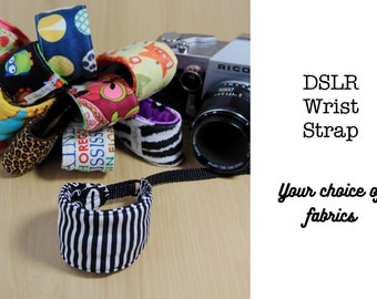 Wrist Camera Strap for DSLR - Quick Release - Choose Custom Fabrics - Made to Order