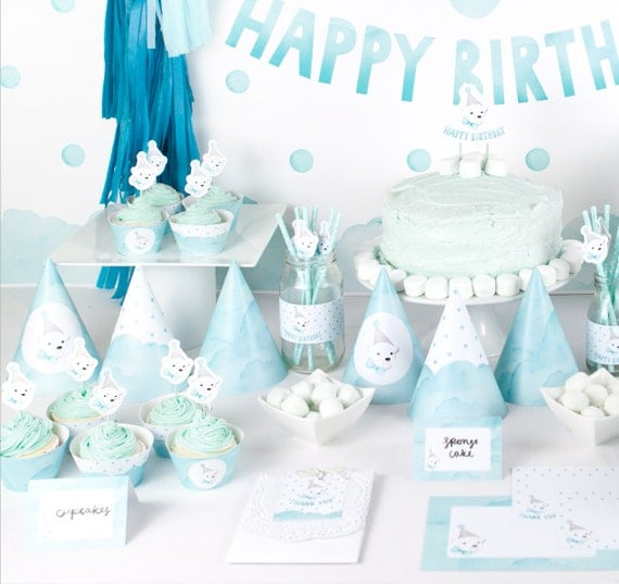 Polar Bear Party Deluxe Printable Party Pack For Boys First