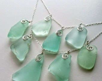 Sea Glass Jewelry, Statement Necklace, Sea Foam Green Necklace, Large Chunky Necklace, Sea Glass Necklace, Bridal Jewelry, Mothers Day Gift