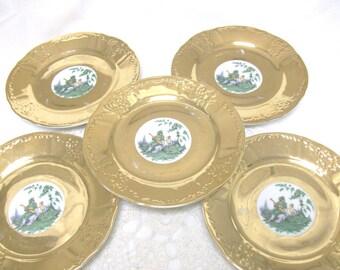 5 Gold Plates Bernadotte De Boheme //