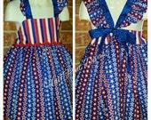 Summer  4th of July Ruffle Dress RTS Size 2T