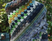 Urban Desert Granny Square Shawl Scarf Free Shipping in USA