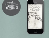"""digital Wallpaper iphone 5 """"Fragile"""" photo nature black and white"""