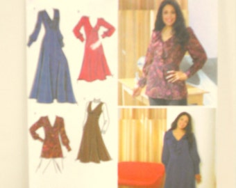 Plus Size Pattern, Simplicity 3671, Tailoring Supplies, Womens Dress Pattern, Sewing Supplies