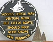 Vintage Nautical Sailing Wisdom Trivet