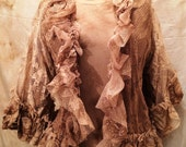 Lace Jacket with 3/4 Sleeve Vintage Lace Ruffle Magnolia Mori Prairie Pearl Lagen
