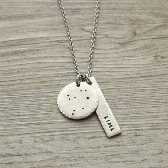 libra libra necklace libra jewelry constellation necklace