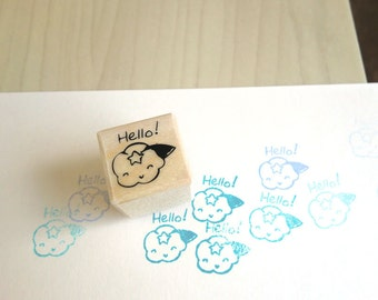 Cute Cloud Stamp - Cute Rubber Stamp, Cloudee Lee