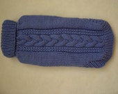 TURTLENECK-CABLE Sweater for  Extra Small  Dog Hand knitted in Lilac made to Order.
