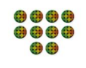 Round Glass Cabochon, Retro Circles Dots Pattern, Glass Dome, Flatback Image Cabochon, 8mm 12mm 16mm 20mm, C1259