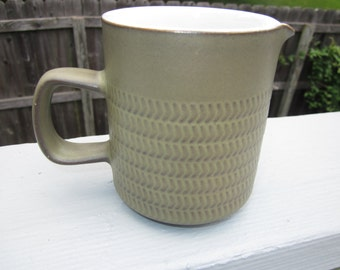 Denby Chevron Cream Pitcher -  Sage Green Camelot English Stoneware