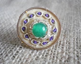 Vintage emerald ring, Gold ring, Victorian ring, Queen's jewelry, Gift for mother, Gift for grandma, Victorian jewelry, For her, Art deco.