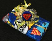 Super Baby Burp Cloth & Pacifier Gift Set by PiquantDesigns