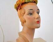 1950s Schiaparelli Floral Hat