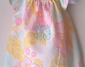 FREE SHIPPING/ Monogrammed Ruffle Sleeve Floral Bubble/ Designer Fabric -Fresh Poppies- Amy Butler