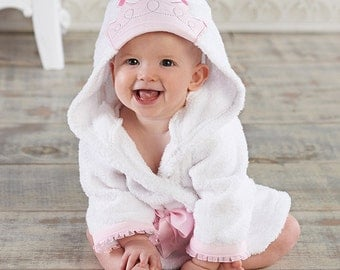 "Infant's Personalized ""Little Princess"" Hooded Spa Robe"