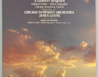 Brahms: German Requiem & Songs, Chicago Symphony Chorus, James Levine, Kathleen Battle, Vintage Vinyl Record Album, RCA Digital 2 LP Set