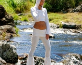 Hooded Cropped Wrap Top - Hoodie - Crop Top - Organic Clothing - Festival Clothing - Eco Friendly