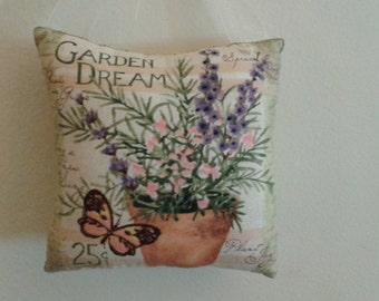 Garden, Flower, Butterfly, Door Hanger, Pillow