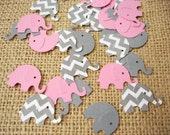 50 Elephant Baby Girl Shower Confetti - No1075