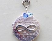 Infinity Locket,Silver Locket,Mother,Daughter,Sister Locket,Birthstone,jewelry gift,Locket,Necklace,Wedding