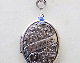 SALE-Mother's Locket,Mom Necklace,Oval Locket,Silver Locket,Mother,Daughter,Sister Locket,Birthstone,jewelry gift,Locket,Necklace,Wedding