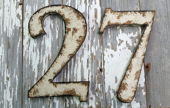 Items Similar To Rustic Shabby Chic Style Numbers And