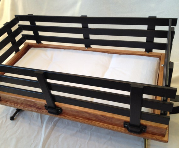 Wooden Wagon, Large, Custom Pad, Choice of Color