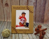 Baseball Dad Personalized Frame Coach Gift, Parent Gift, End of Season Thank you Present FR0301