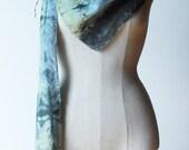 Ooak silk scarf, unique silk scarf, infinity scarf, silver grey scarf, scarves