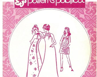 1970s Halter Dress Pattern, Maxi or Mini, Round or V Neckline, Bust 30 32 34, Sizes 3 - 13, Patterns Pacifica 313 Vintage Sewing Pattern