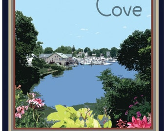 Pawtuxet Cove Travel Poster