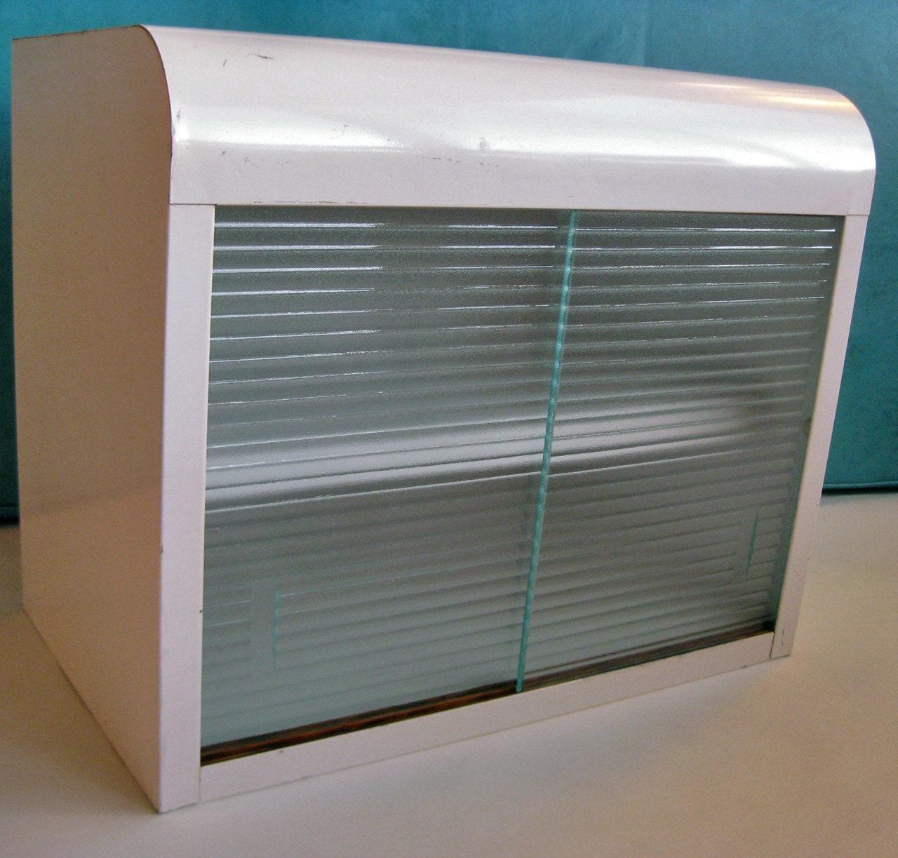 mid century modern vintage steel cabinet sliding glass doors