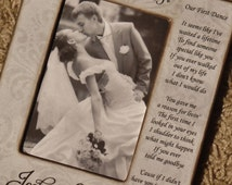 Our First Dance Personalized Picture Frame 4x6, Our Song, Anniversary Gift, First Dance Wedding, Bride Gift Groom Gift, Personalized Frame