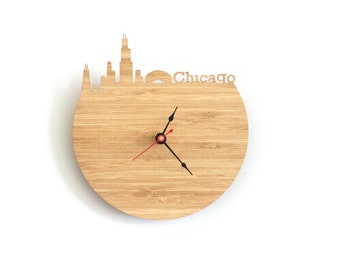 Chicago Clock - Wall clock - Cloud Gate - Victory Monument - Illinois