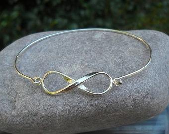 Sterling Silver Infinity Bracelet - Silver Infinity Bangle - Silver Infinity Bracelet - Silver Bracelet - Silver Infinity Bangle Bracelet