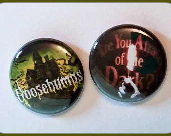"Goosebumps and Are You Afraid of the Dark - 1"" Button Choose Your Own"