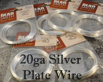 20ga Silver Plate Bead Smith Wire - 6 meters