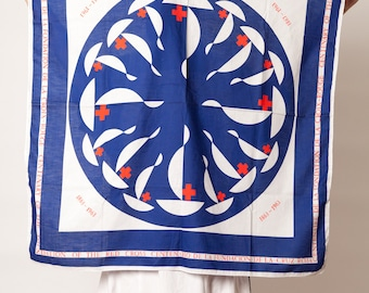 scarves and handkerchief French Red Cross 1960's