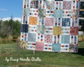 Picket Fence Quilt Pattern in 6 Sizes from Wall to King ~ Layer Cake and Yardage Friendly ~ PDF Pattern ~ Quick and Easy ~ BusyHandsQuilts