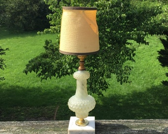 Table Lamp Accent Lamp Frosted Glass Vintage Lamp